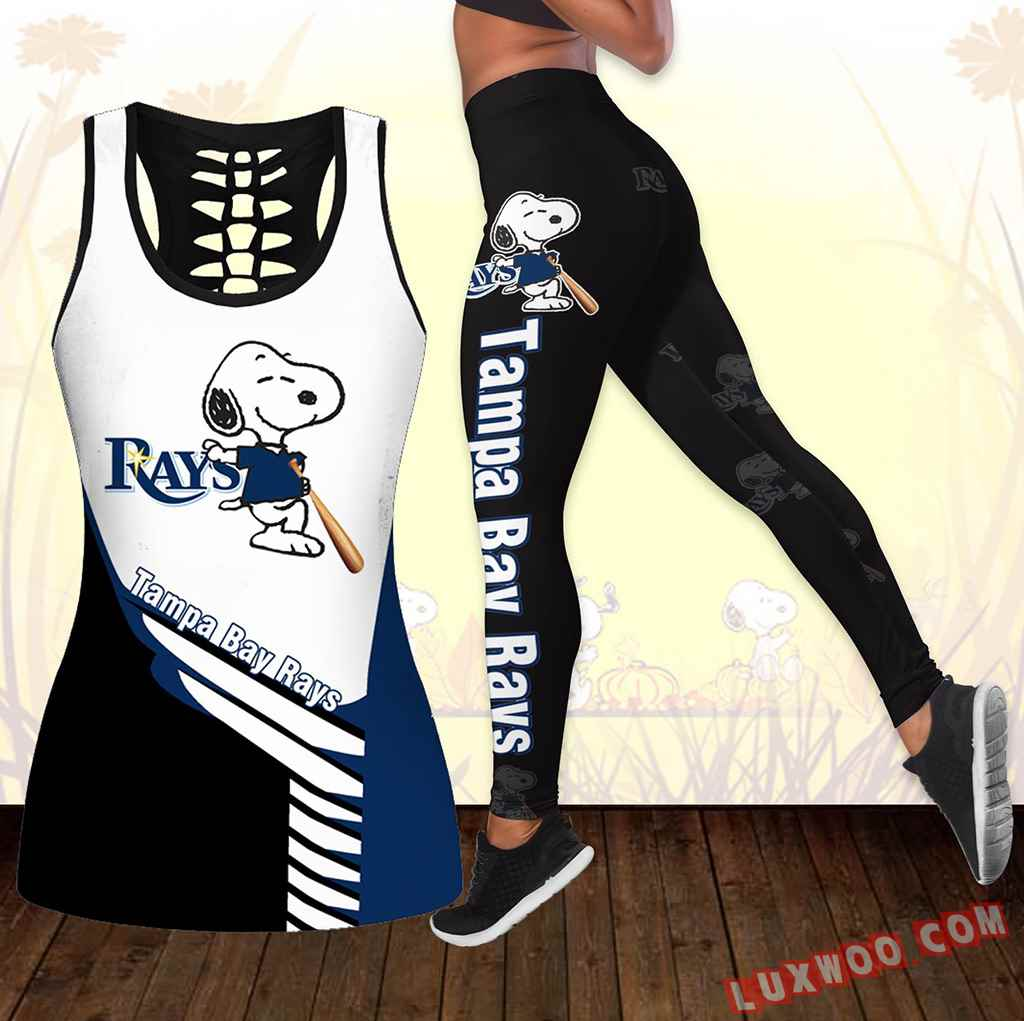 Combo Tampa Bay Rays Snoopy Hollow Tanktop Legging Set Outfit K1727