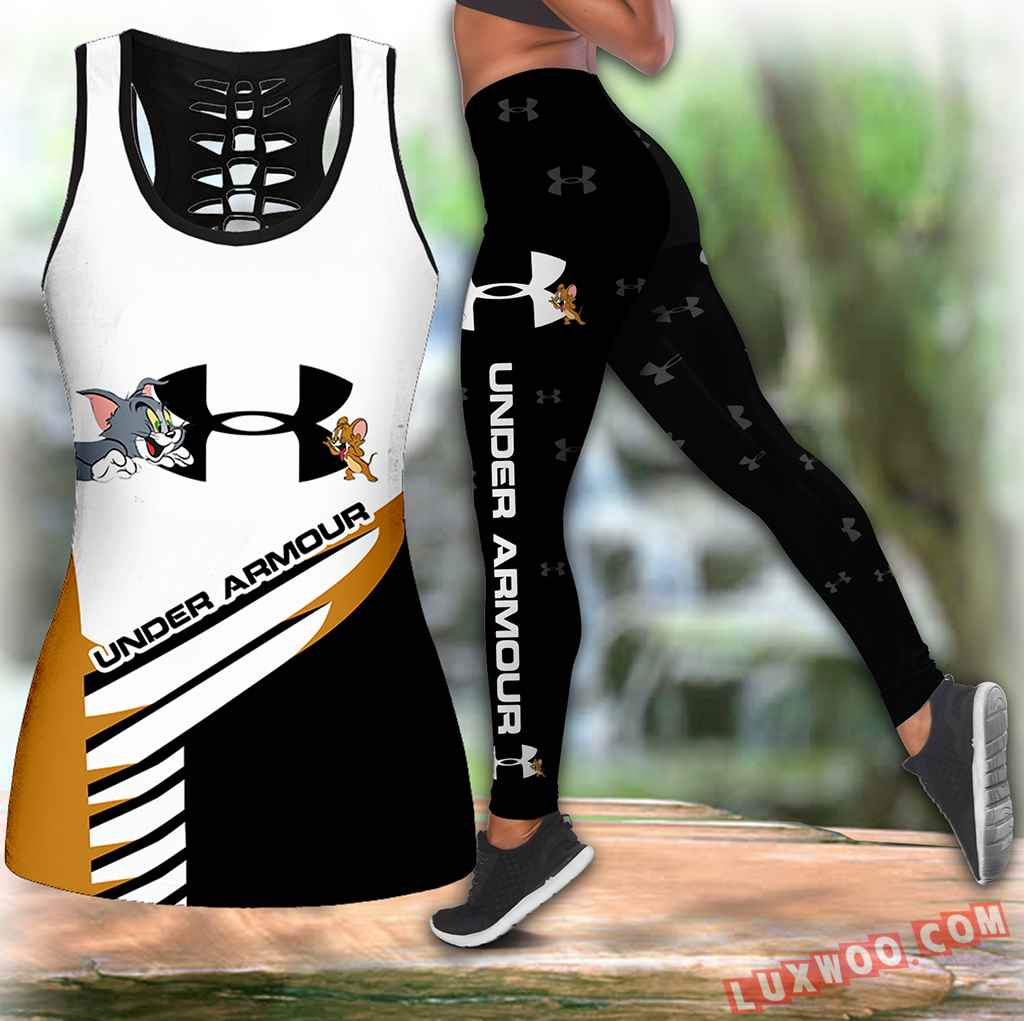 Combo Tom Jerry Under Armour Hollow Tanktop Legging Set Outfit K1618