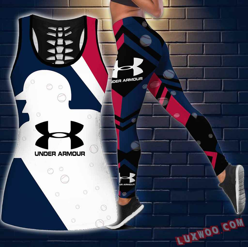 Combo Under Armour Mlb New Hollow Tanktop Legging Set Outfit S1089
