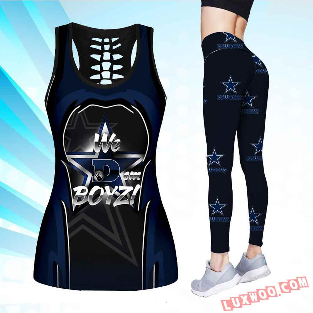 Combo We Dem Boyz Hollow Tanktop Legging Set Outfit V1701