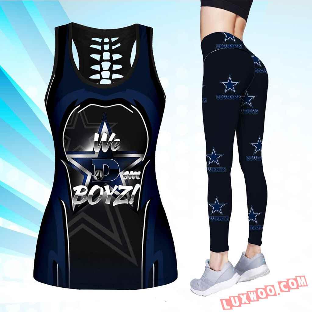 Combo We Dem Boyz Hollow Tanktop Legging Set Outfit V1701