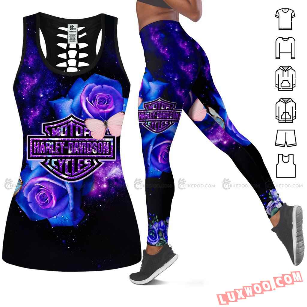 Harley Davidson Hollow Tank Top Leggings All Over Print Ts237