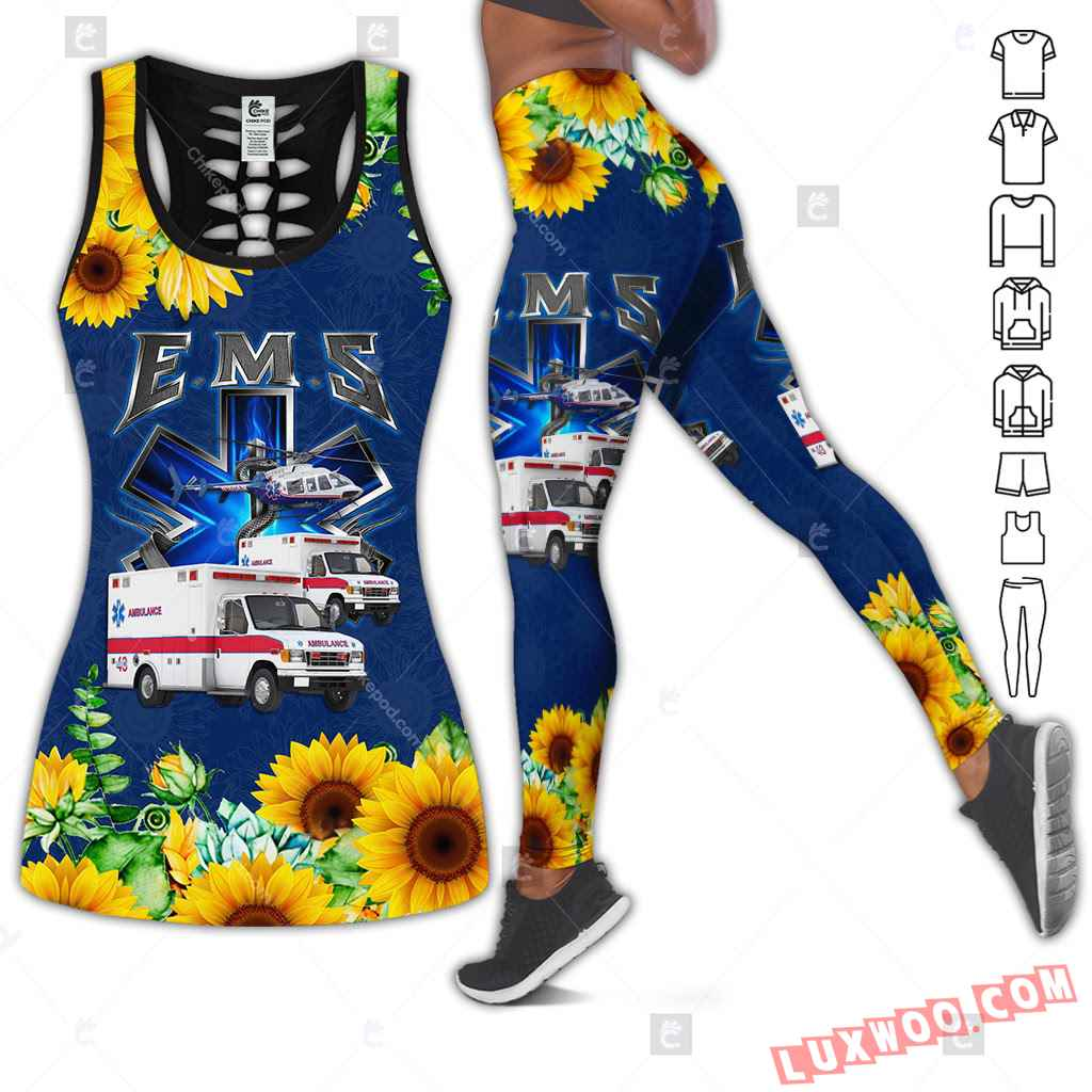 Love Motorbike Hollow Out Tank Top And Leggings Bc570
