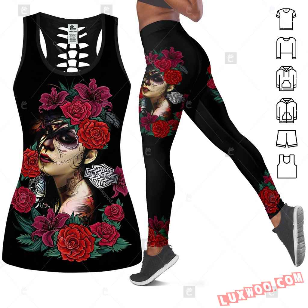 Love Motorbike Tank Top Legging 3d All Over Printed Clothes Bc344