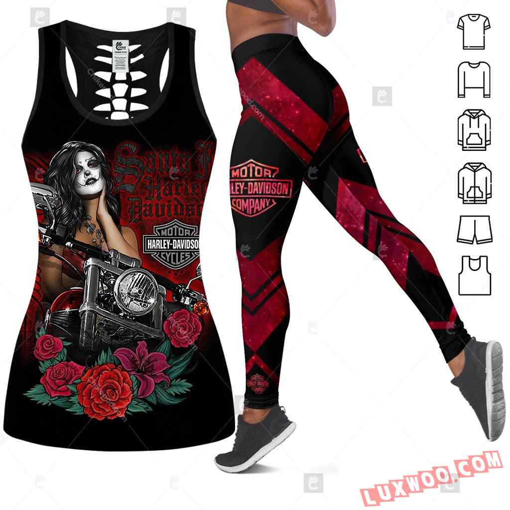Love Motorbike Tank Top Legging 3d All Over Printed Clothes Bc346