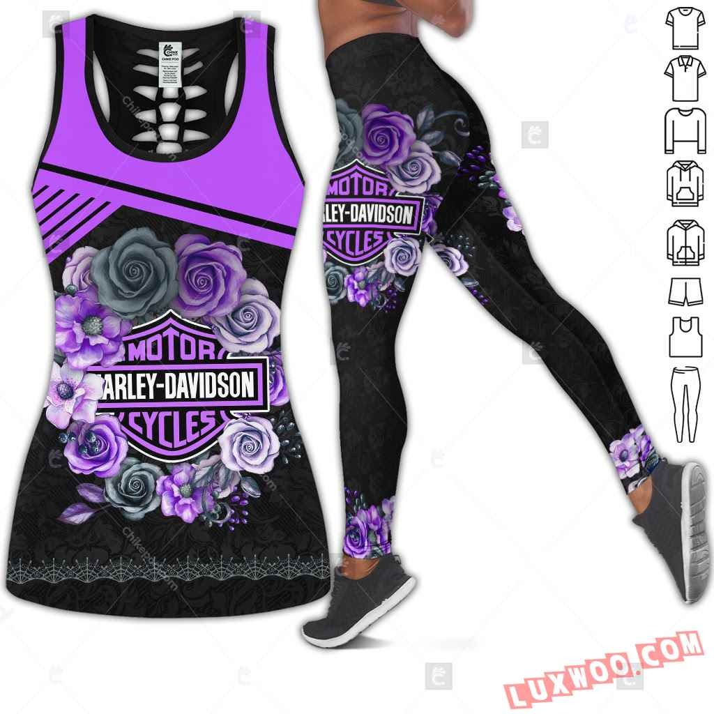 Love Motorbike Tank Top Legging 3d All Over Printed Clothes Cm535