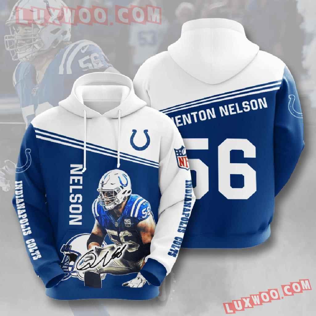 Nfl Indianapolis Colts 3d Hoodies Printed Zip Hoodies Sweatshirt Jacket V10