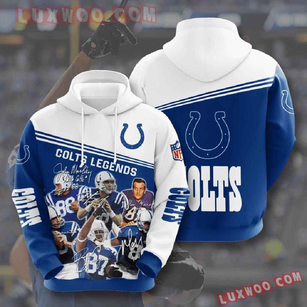 Nfl Indianapolis Colts 3d Hoodies Printed Zip Hoodies Sweatshirt Jacket V11