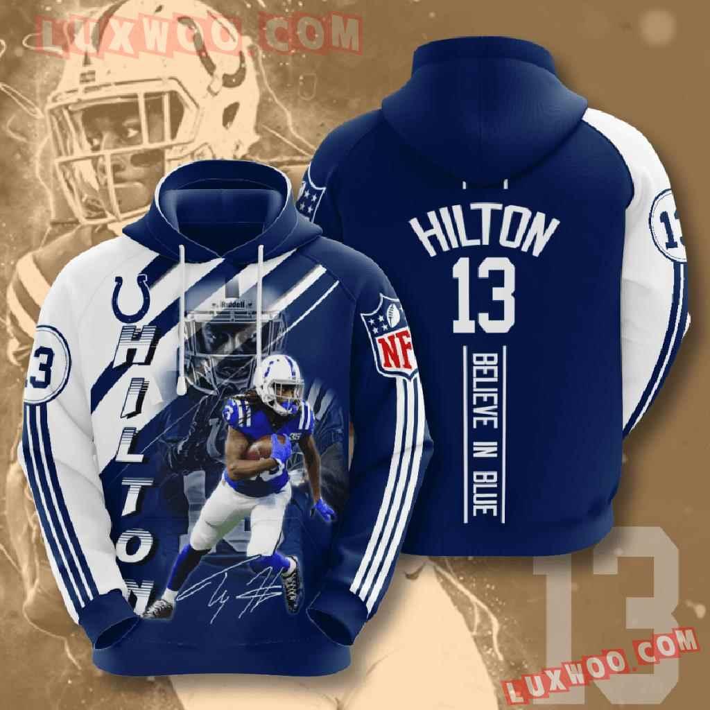 Nfl Indianapolis Colts 3d Hoodies Printed Zip Hoodies Sweatshirt Jacket V12