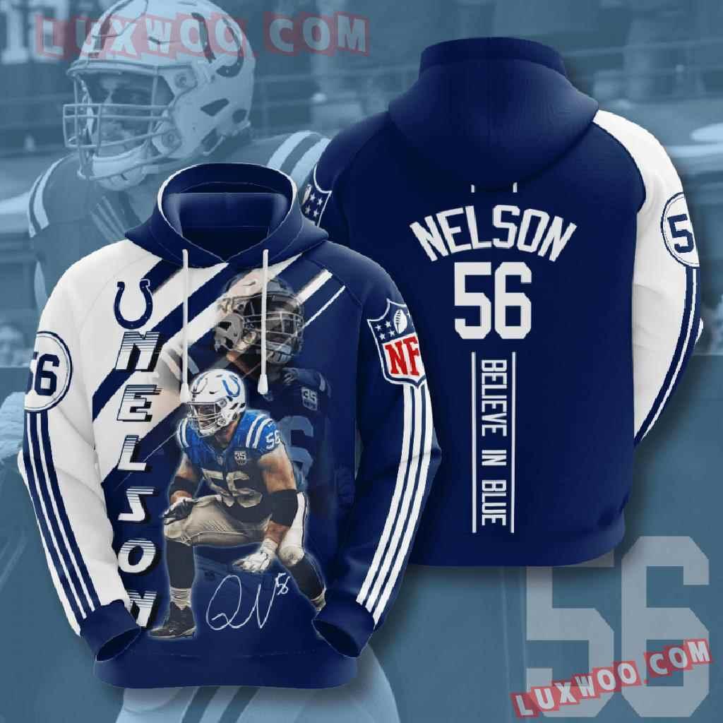 Nfl Indianapolis Colts 3d Hoodies Printed Zip Hoodies Sweatshirt Jacket V15