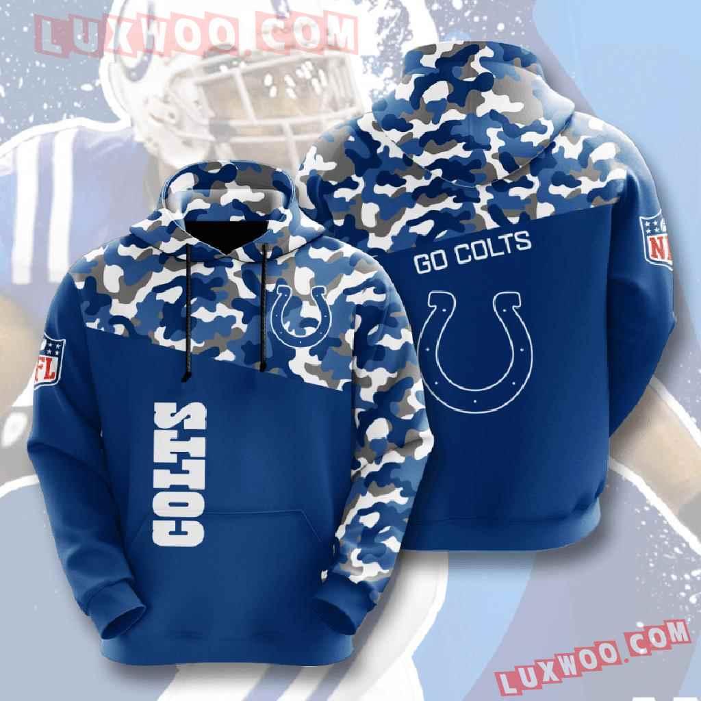 Nfl Indianapolis Colts 3d Hoodies Printed Zip Hoodies Sweatshirt Jacket V3
