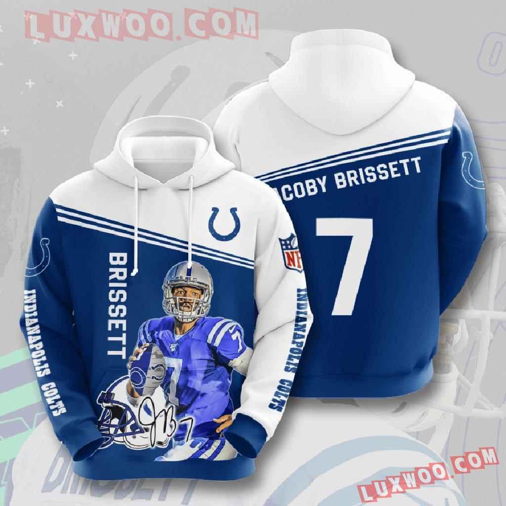 Nfl Indianapolis Colts 3d Hoodies Printed Zip Hoodies Sweatshirt Jacket V5