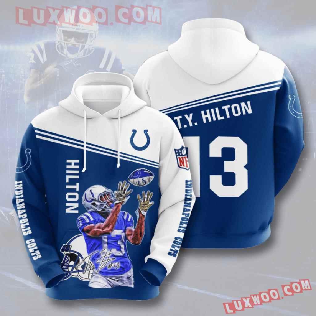 Nfl Indianapolis Colts 3d Hoodies Printed Zip Hoodies Sweatshirt Jacket V8
