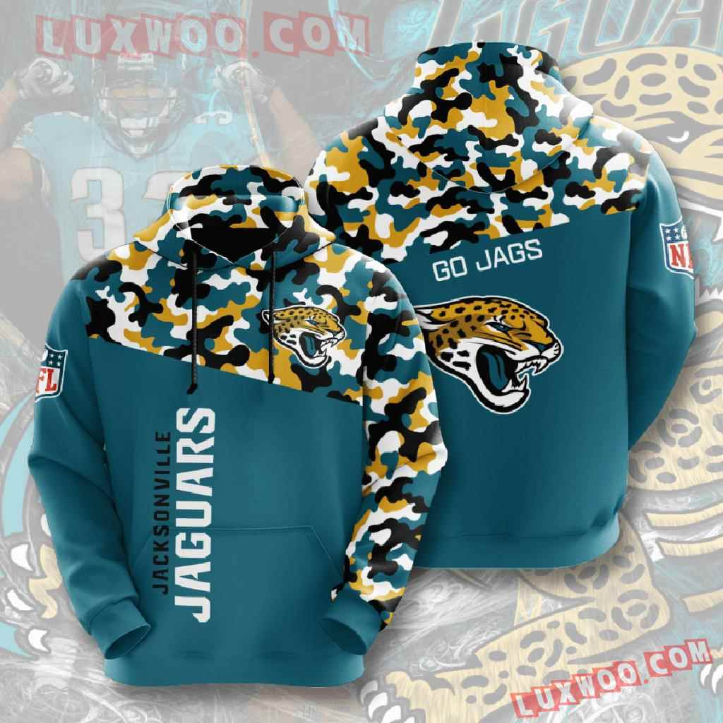 Nfl Jacksonville Jaguars 3d Hoodies Printed Zip Hoodies Sweatshirt Jacket V1