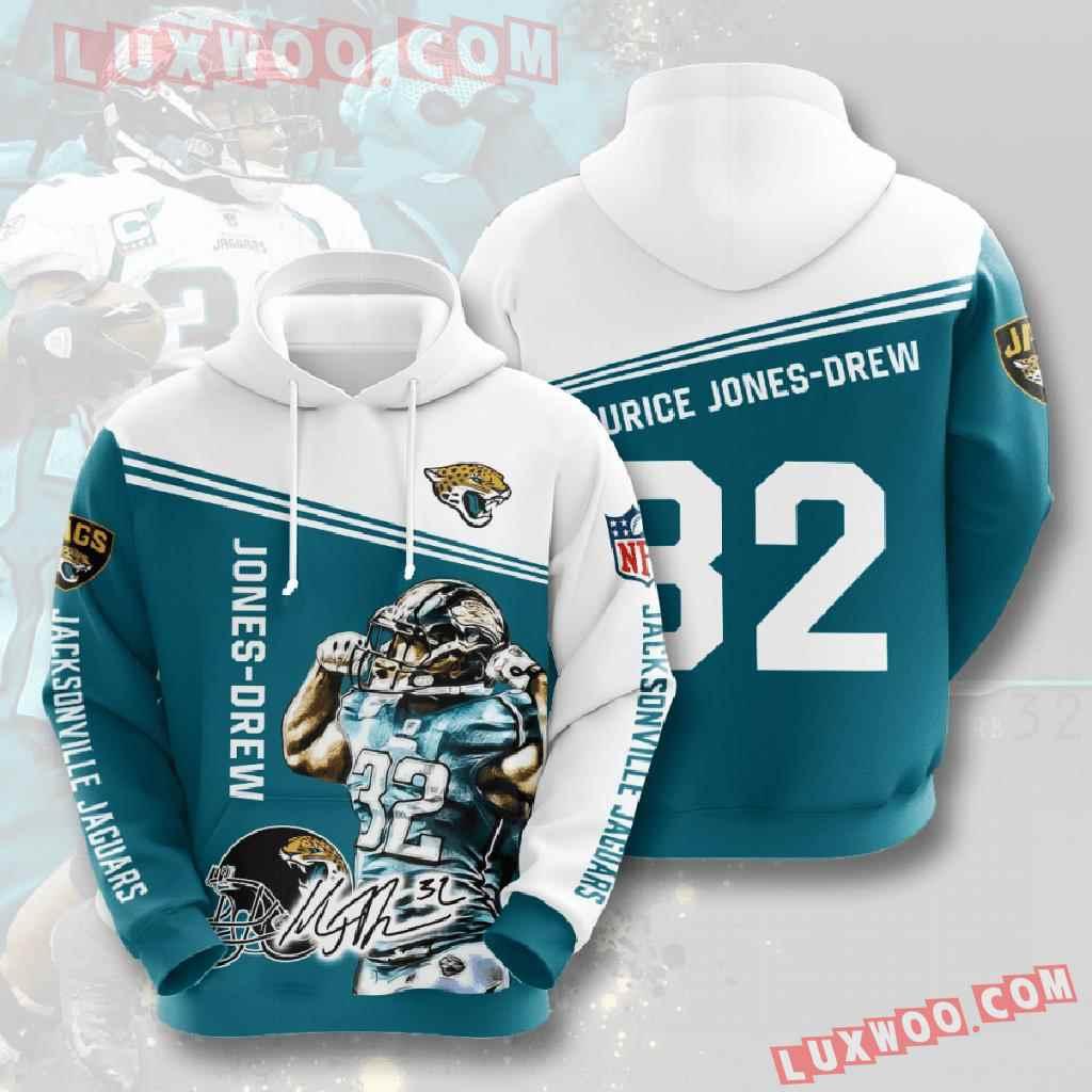 Nfl Jacksonville Jaguars 3d Hoodies Printed Zip Hoodies Sweatshirt Jacket V10