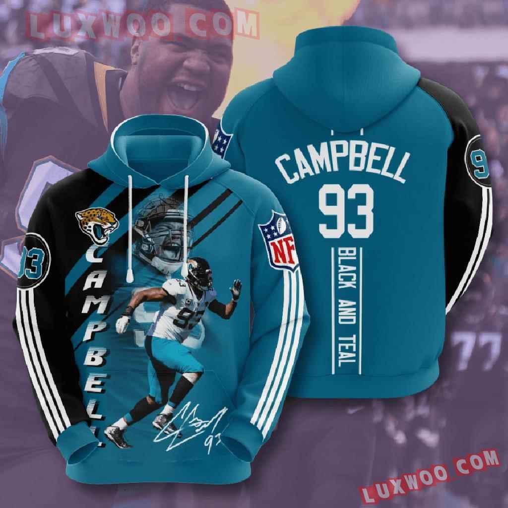 Nfl Jacksonville Jaguars 3d Hoodies Printed Zip Hoodies Sweatshirt Jacket V14