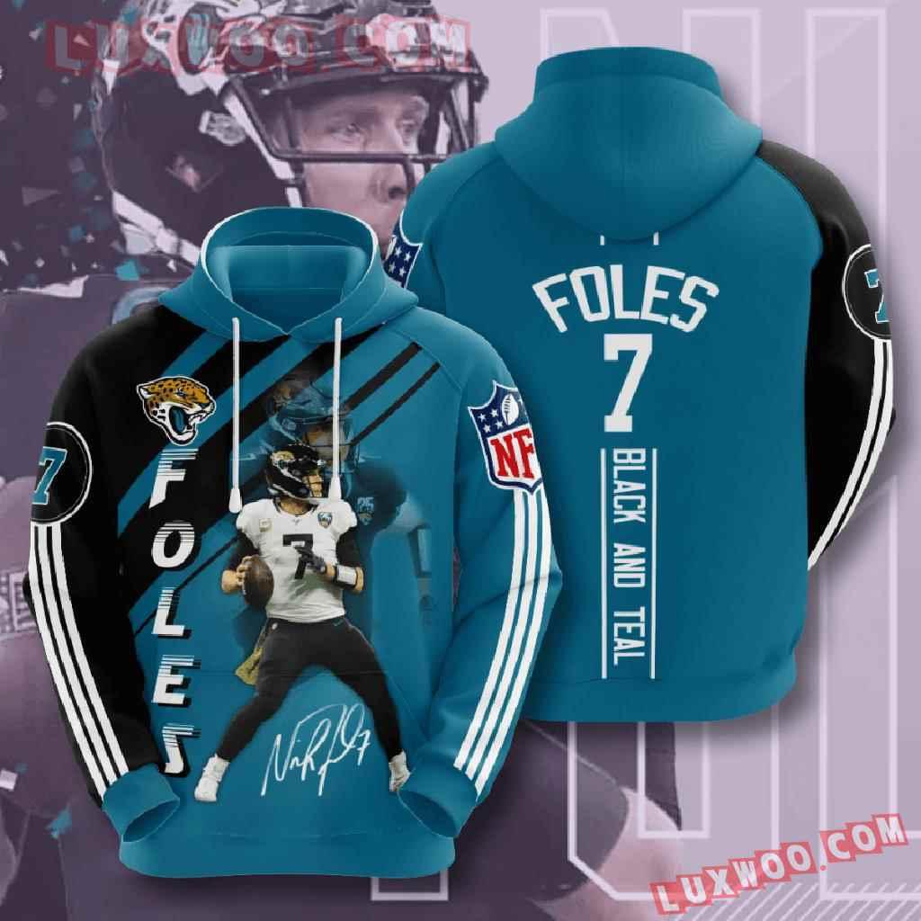 Nfl Jacksonville Jaguars 3d Hoodies Printed Zip Hoodies Sweatshirt Jacket V16