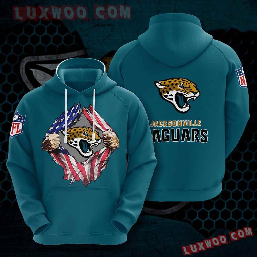 Nfl Jacksonville Jaguars 3d Hoodies Printed Zip Hoodies Sweatshirt Jacket V2
