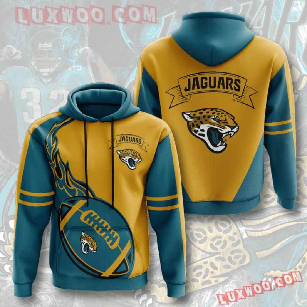 Nfl Jacksonville Jaguars 3d Hoodies Printed Zip Hoodies Sweatshirt Jacket V3