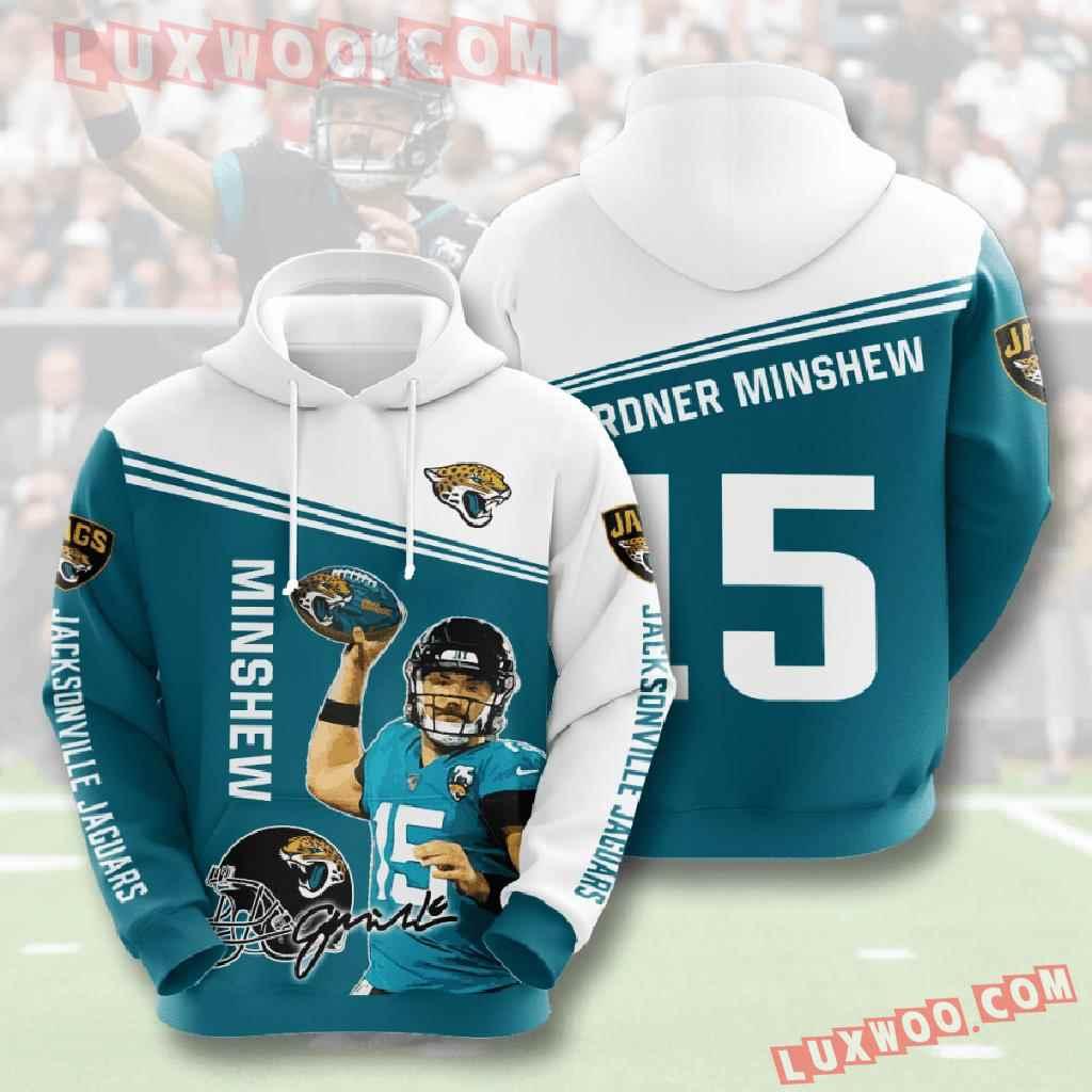 Nfl Jacksonville Jaguars 3d Hoodies Printed Zip Hoodies Sweatshirt Jacket V4