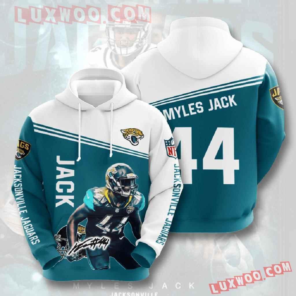 Nfl Jacksonville Jaguars 3d Hoodies Printed Zip Hoodies Sweatshirt Jacket V6