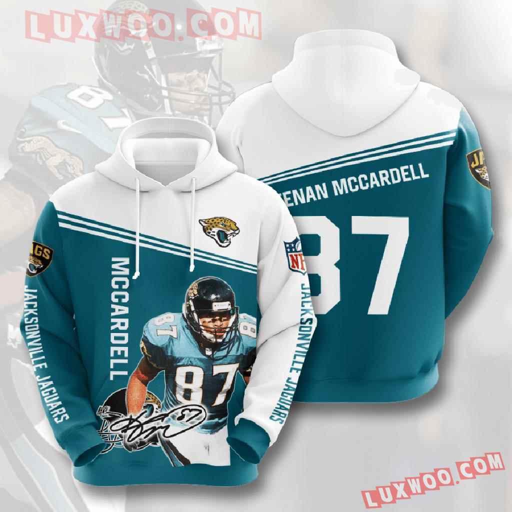 Nfl Jacksonville Jaguars 3d Hoodies Printed Zip Hoodies Sweatshirt Jacket V7