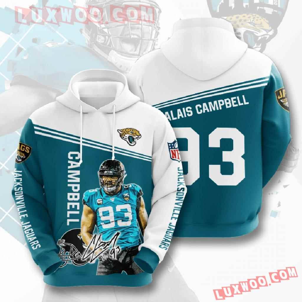 Nfl Jacksonville Jaguars 3d Hoodies Printed Zip Hoodies Sweatshirt Jacket V8