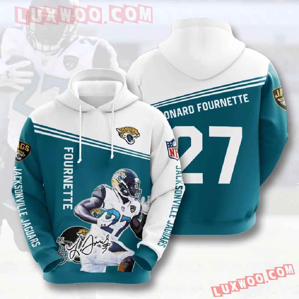 Nfl Jacksonville Jaguars 3d Hoodies Printed Zip Hoodies Sweatshirt Jacket V9