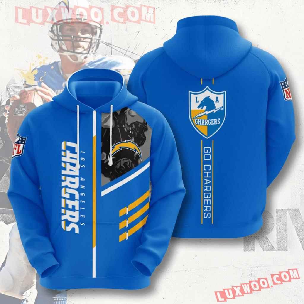 Nfl Los Angeles Chargers 3d Hoodies Printed Zip Hoodies Sweatshirt Jacket V1