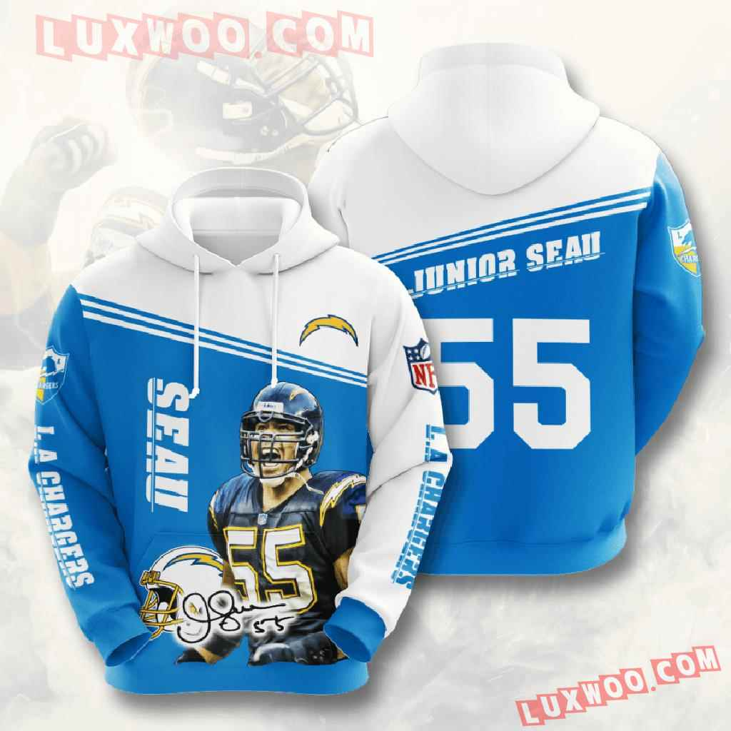 Nfl Los Angeles Chargers 3d Hoodies Printed Zip Hoodies Sweatshirt Jacket V10