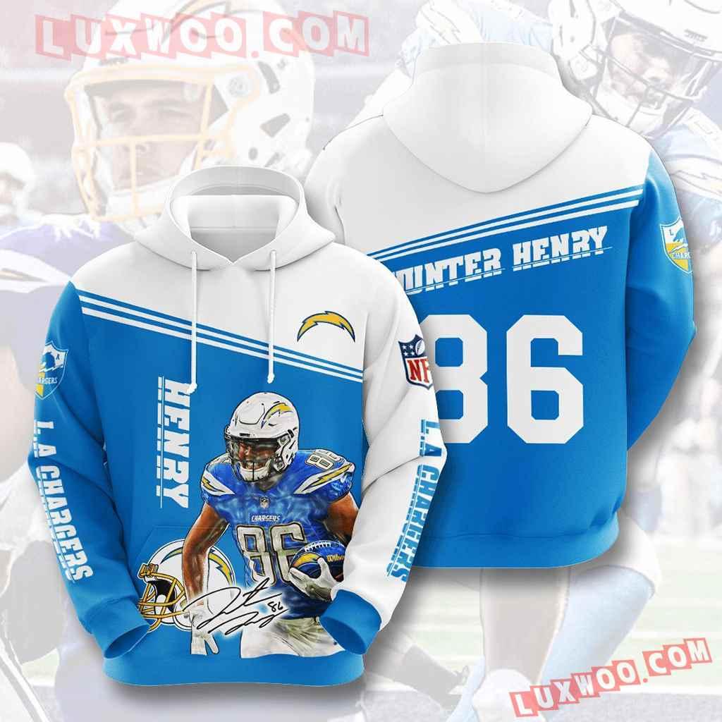 Nfl Los Angeles Chargers 3d Hoodies Printed Zip Hoodies Sweatshirt Jacket V11
