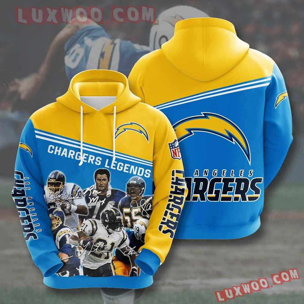Nfl Los Angeles Chargers 3d Hoodies Printed Zip Hoodies Sweatshirt Jacket V14
