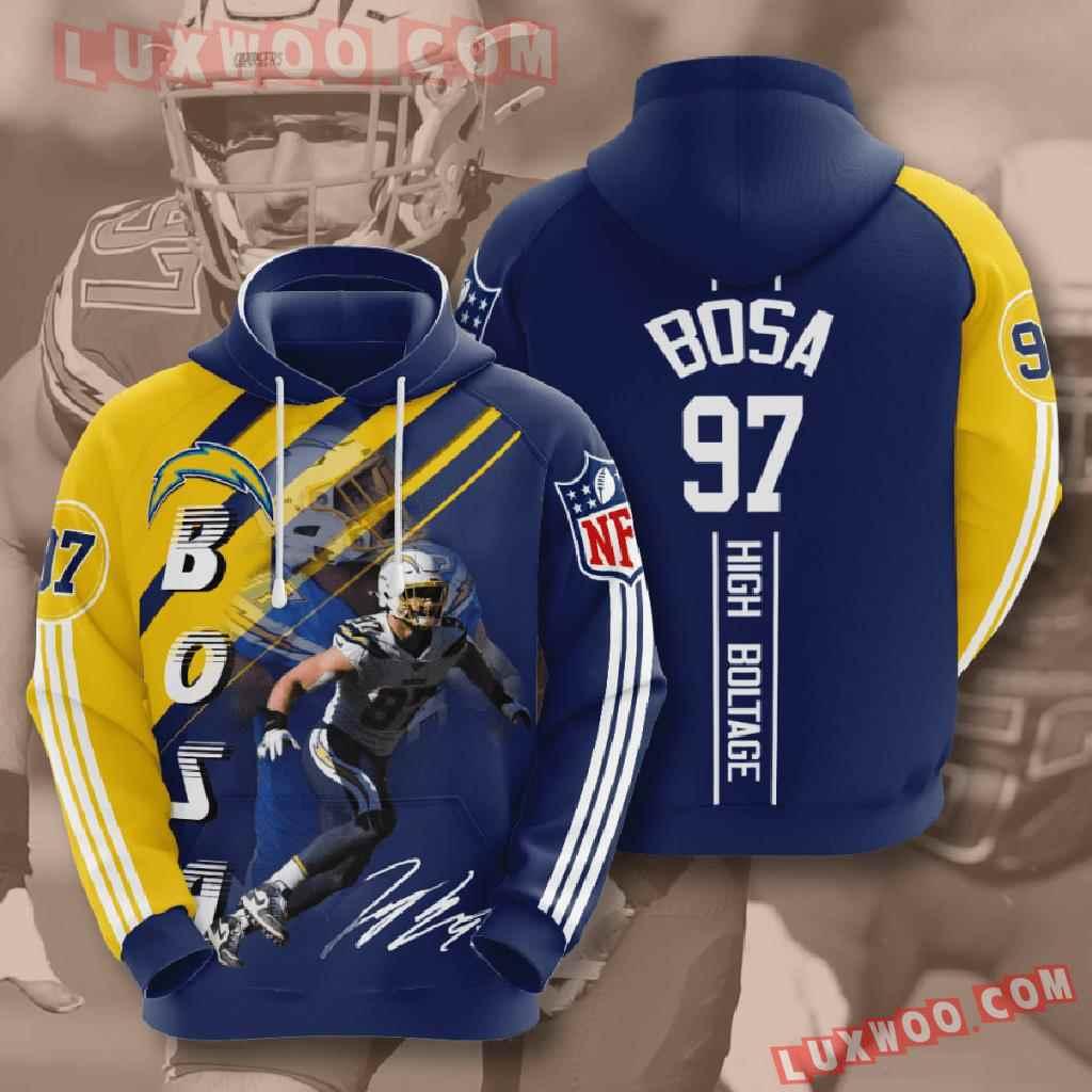 Nfl Los Angeles Chargers 3d Hoodies Printed Zip Hoodies Sweatshirt Jacket V15