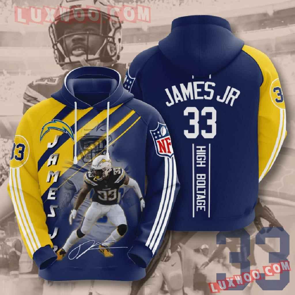 Nfl Los Angeles Chargers 3d Hoodies Printed Zip Hoodies Sweatshirt Jacket V16