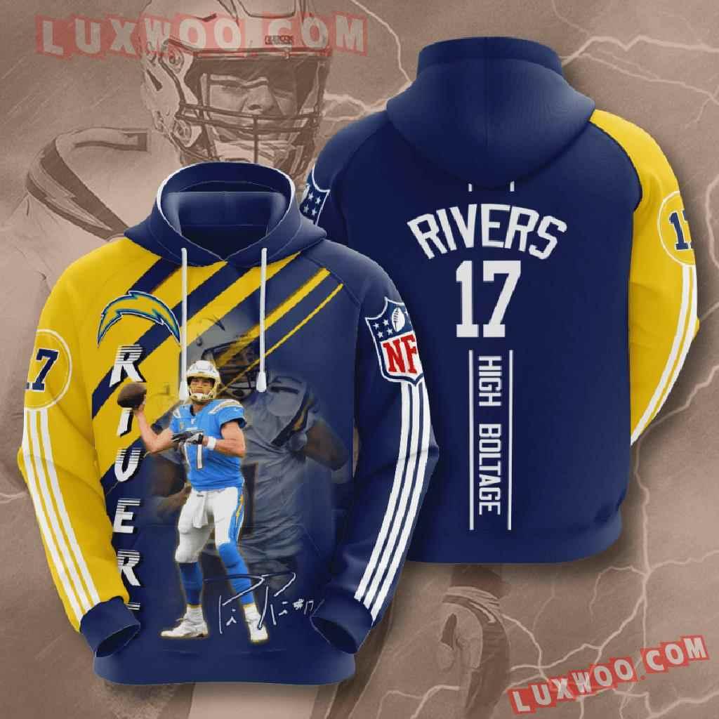 Nfl Los Angeles Chargers 3d Hoodies Printed Zip Hoodies Sweatshirt Jacket V17