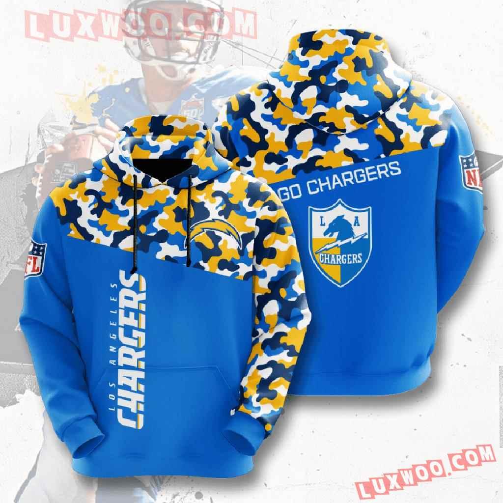 Nfl Los Angeles Chargers 3d Hoodies Printed Zip Hoodies Sweatshirt Jacket V2