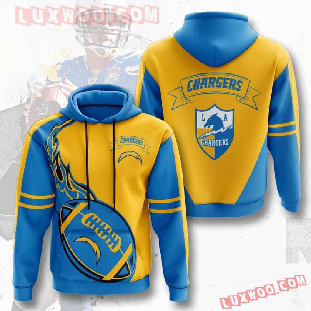 Nfl Los Angeles Chargers 3d Hoodies Printed Zip Hoodies Sweatshirt Jacket V3