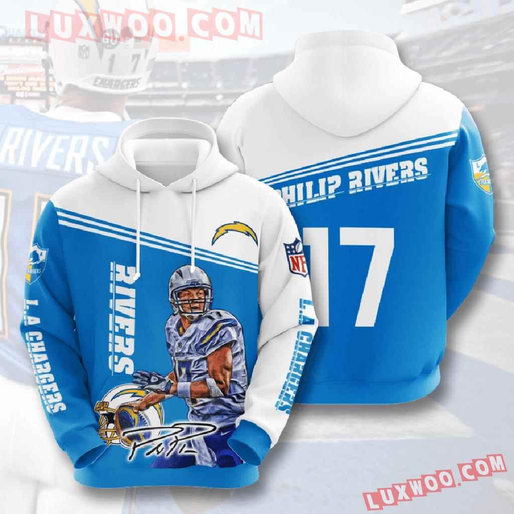 Nfl Los Angeles Chargers 3d Hoodies Printed Zip Hoodies Sweatshirt Jacket V4