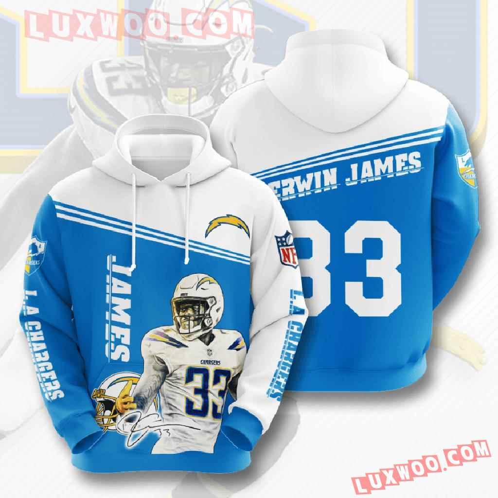 Nfl Los Angeles Chargers 3d Hoodies Printed Zip Hoodies Sweatshirt Jacket V5
