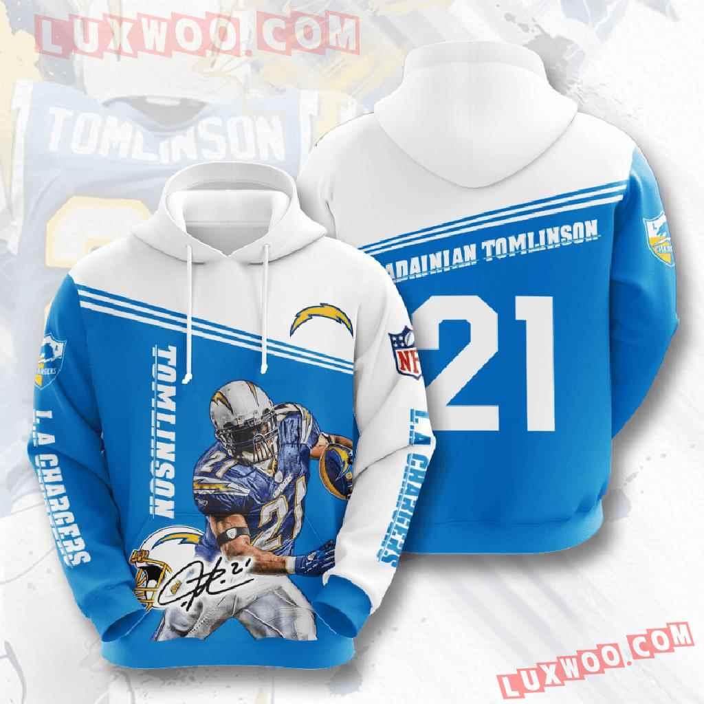 Nfl Los Angeles Chargers 3d Hoodies Printed Zip Hoodies Sweatshirt Jacket V6