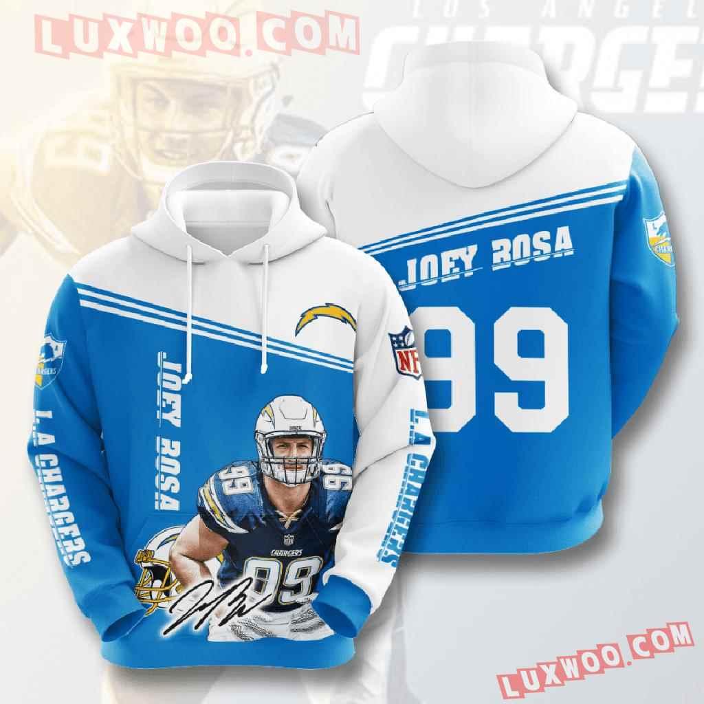Nfl Los Angeles Chargers 3d Hoodies Printed Zip Hoodies Sweatshirt Jacket V7