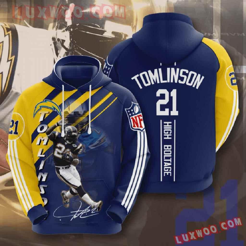 Nfl Los Angeles Chargers 3d Hoodies Printed Zip Hoodies Sweatshirt Jacket V8