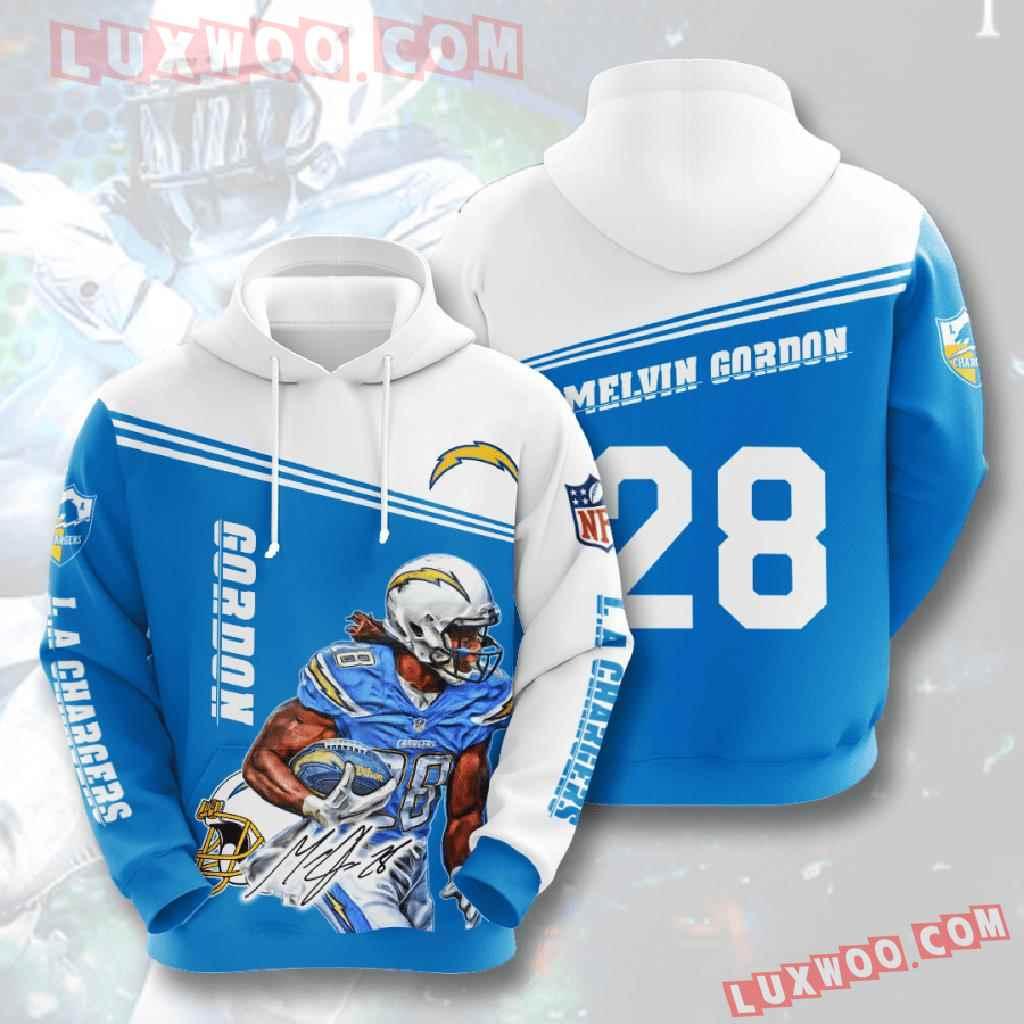 Nfl Los Angeles Chargers 3d Hoodies Printed Zip Hoodies Sweatshirt Jacket V9