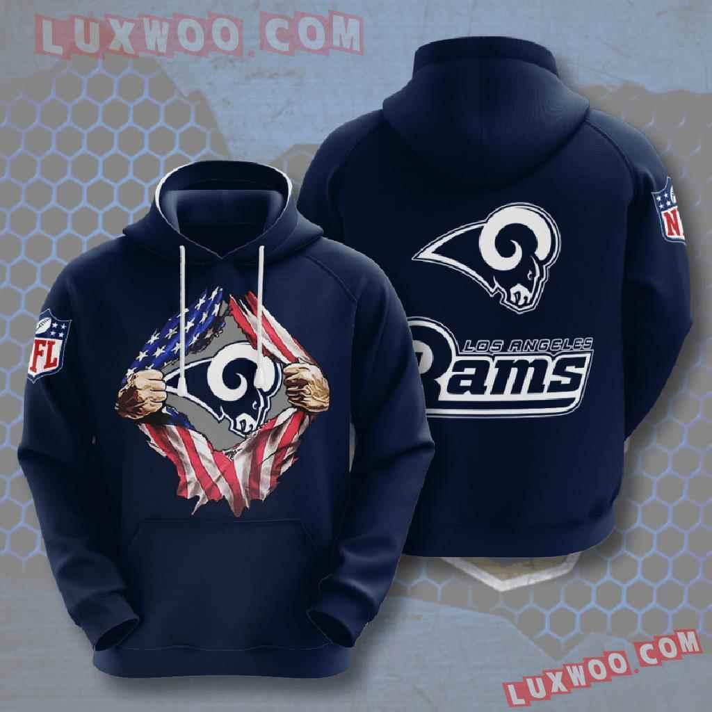 Nfl Los Angeles Rams 3d Hoodies Printed Zip Hoodies Sweatshirt Jacket V1