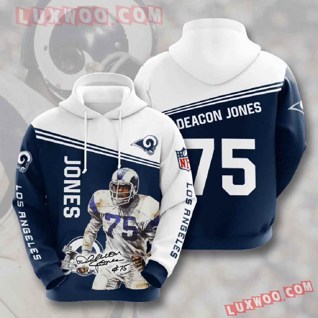 Nfl Los Angeles Rams 3d Hoodies Printed Zip Hoodies Sweatshirt Jacket V10
