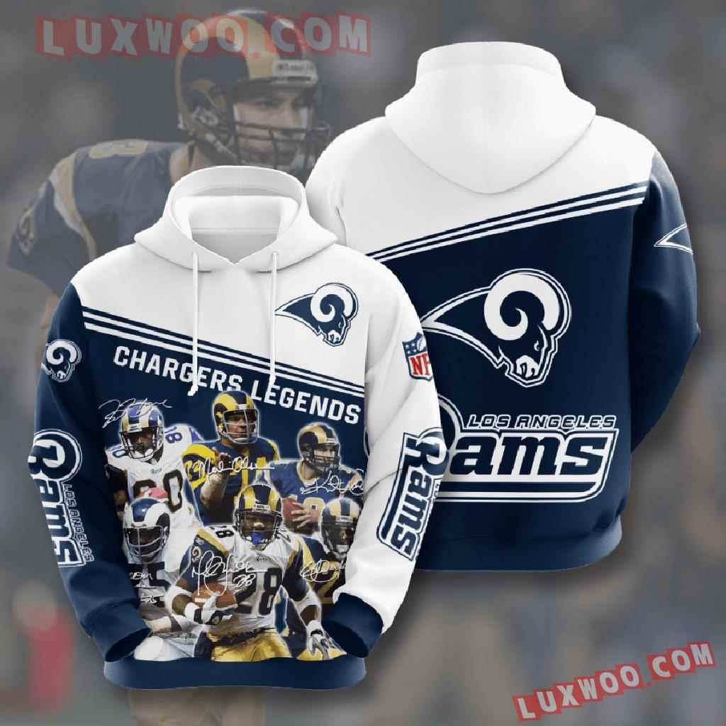 Nfl Los Angeles Rams 3d Hoodies Printed Zip Hoodies Sweatshirt Jacket V11