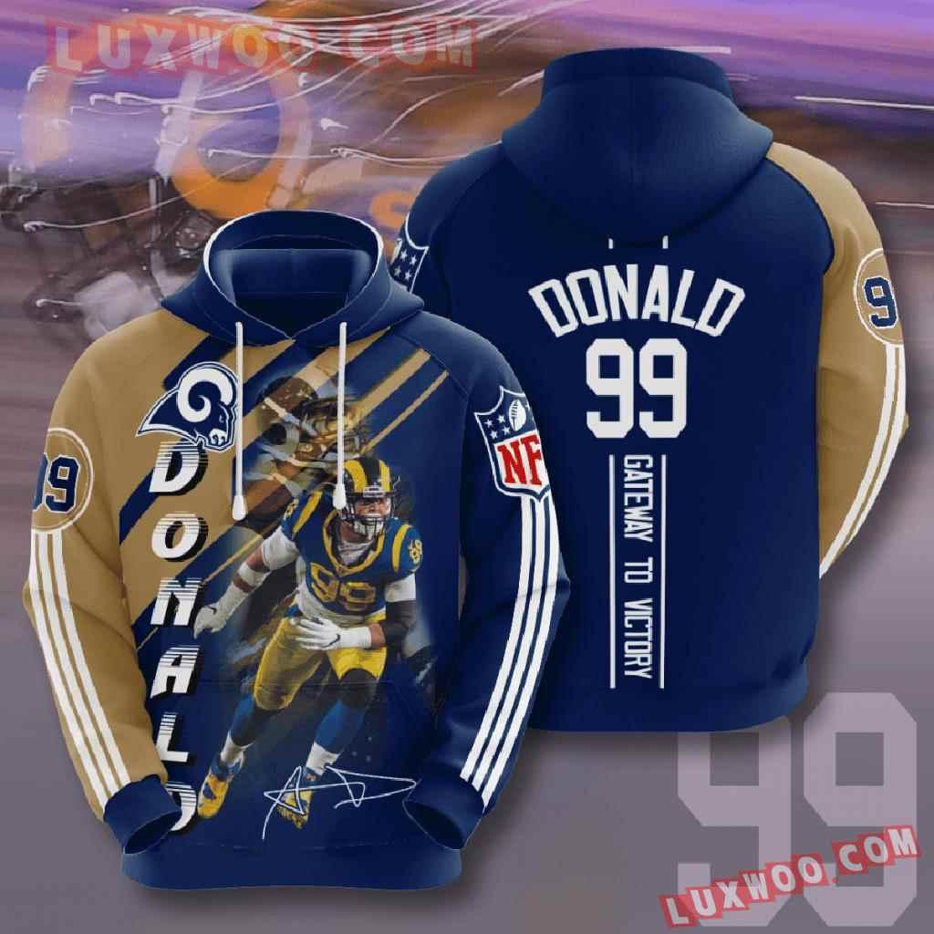 Nfl Los Angeles Rams 3d Hoodies Printed Zip Hoodies Sweatshirt Jacket V12