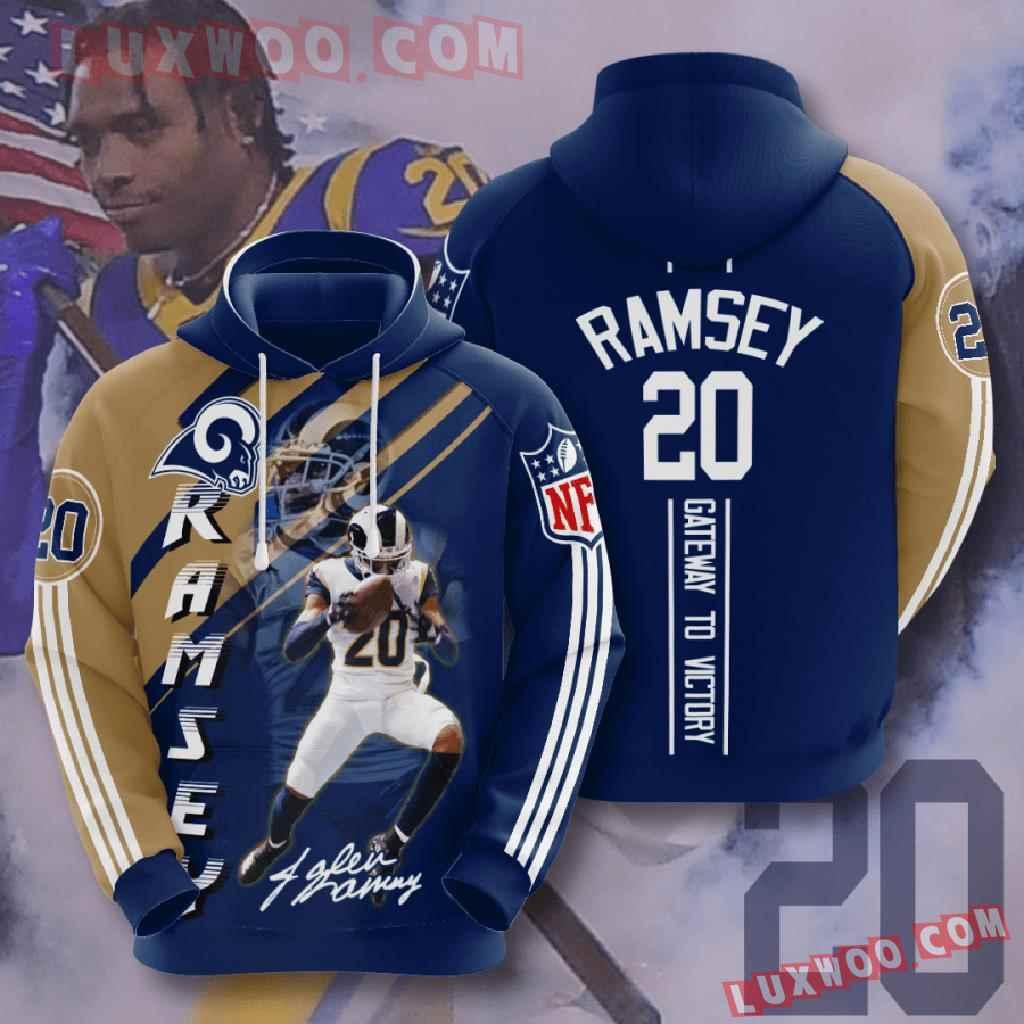 Nfl Los Angeles Rams 3d Hoodies Printed Zip Hoodies Sweatshirt Jacket V13