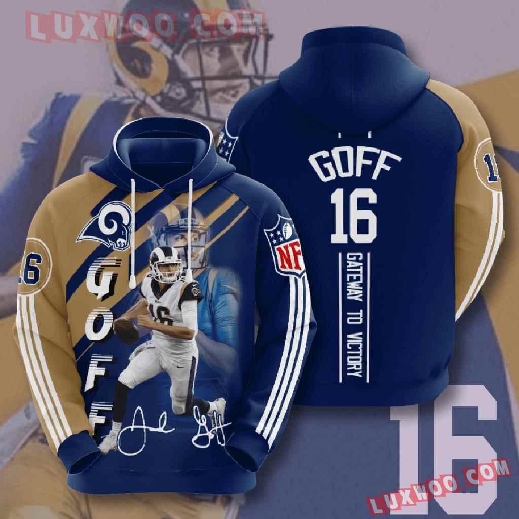 Nfl Los Angeles Rams 3d Hoodies Printed Zip Hoodies Sweatshirt Jacket V15