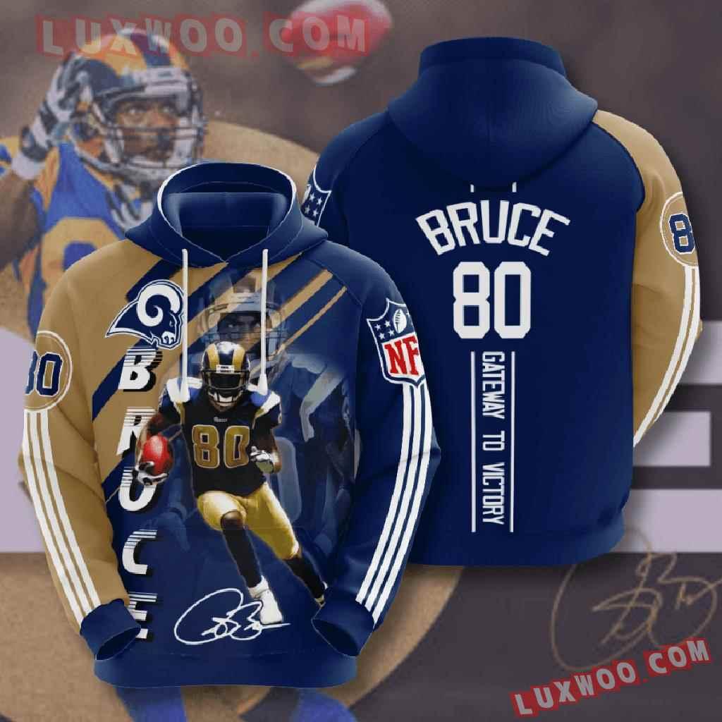 Nfl Los Angeles Rams 3d Hoodies Printed Zip Hoodies Sweatshirt Jacket V16